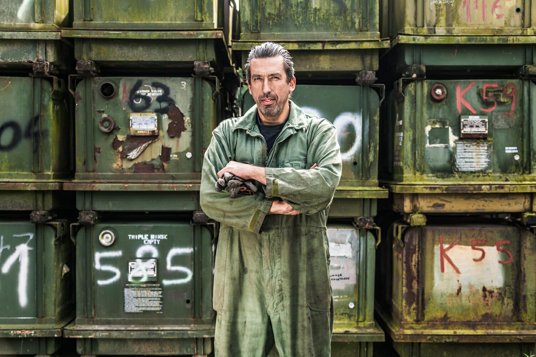 Pressefoto für DMAX Fernsehsendung Steel Buddies mit Michael Manousakis